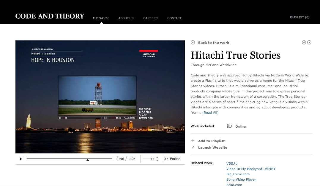 codetheory Hitachi True Stories